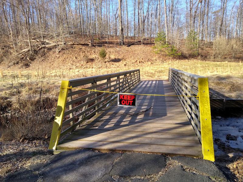 Closed bridge @ mile 2.4