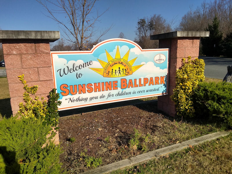 Sunshine Ballpark sign