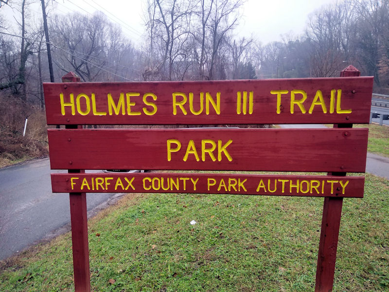Holmes Run Trail Sign
