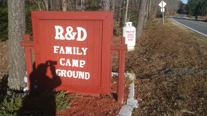 Sign @ R&D Family CG, VA