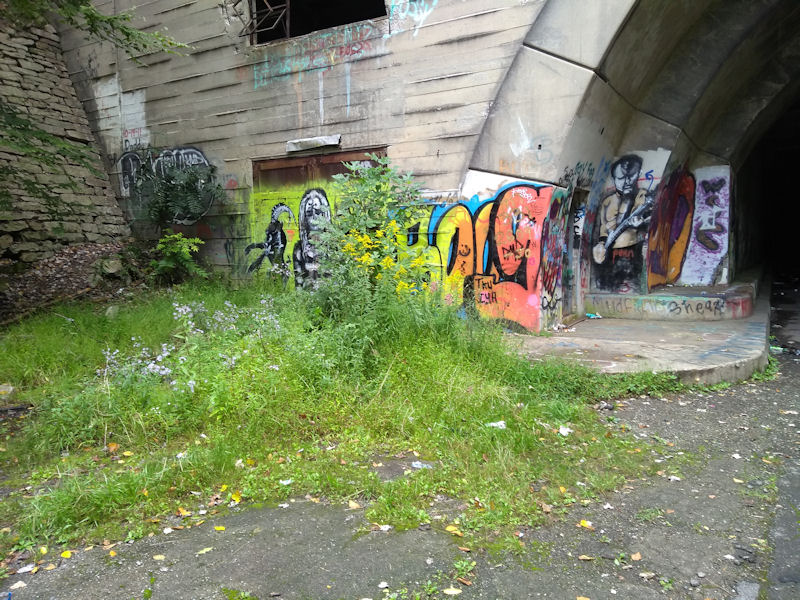 Grafitti on W side of Sidling Hill Tunnel