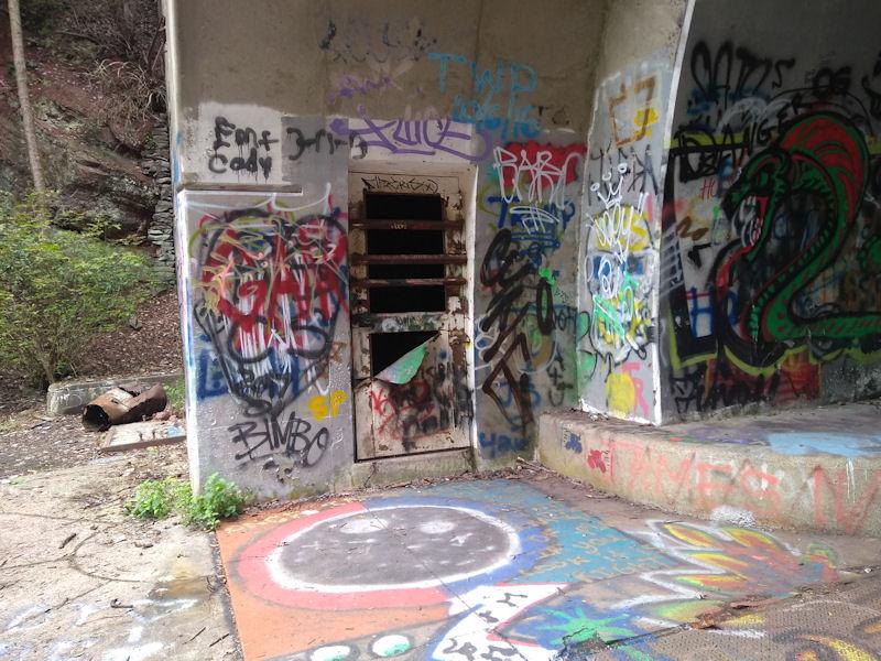 Grafitti, western end, Rays Hill Tunnel