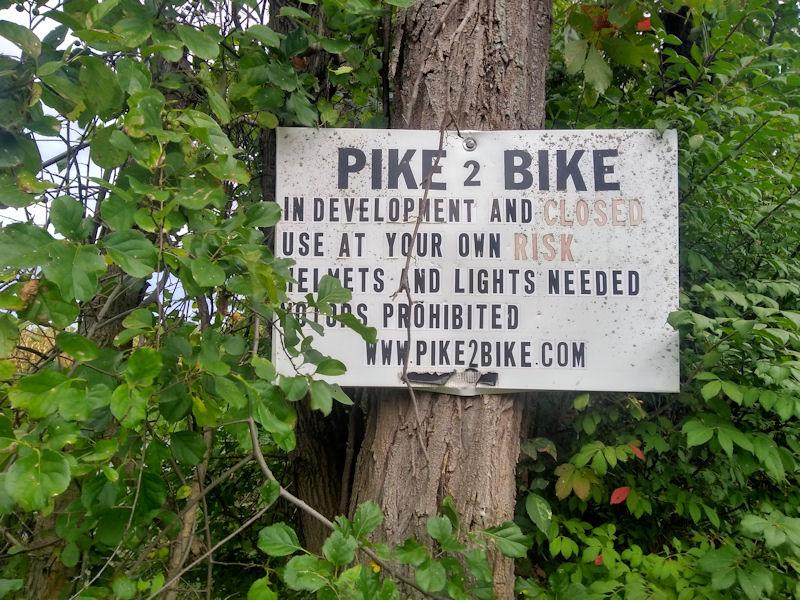 Pike2Bike sign @ western terminus