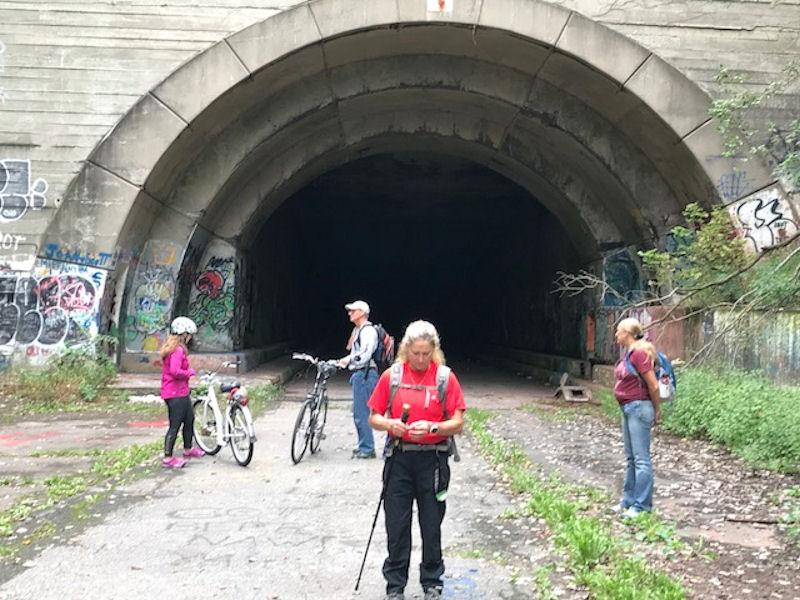 2 bicyclists, Terri & Sarah
