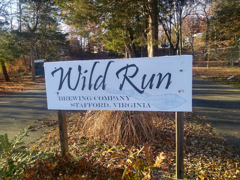 Brewery sign @ Aquia Pines CG, VA