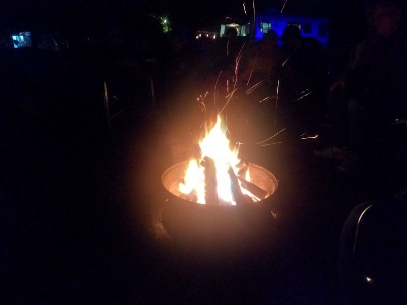 Our Saturday night campfire