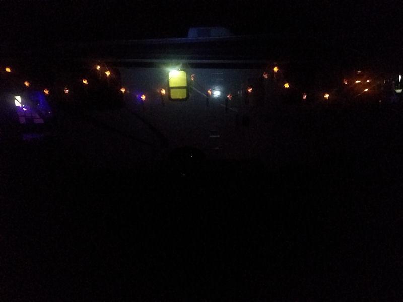 RV lights at night