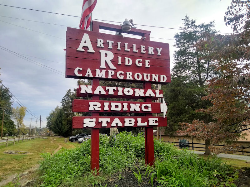 Sign @ Artillery Ridge CG