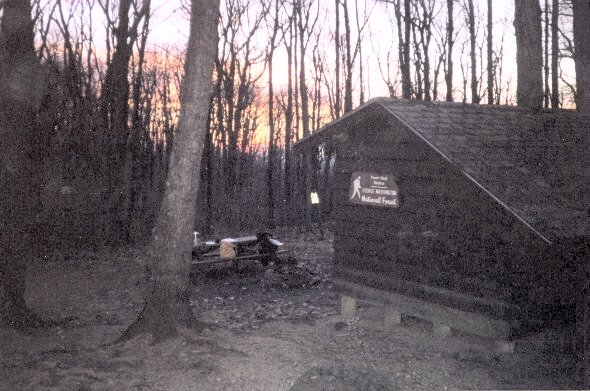 Sunup at Punchbowl Shelter, VA