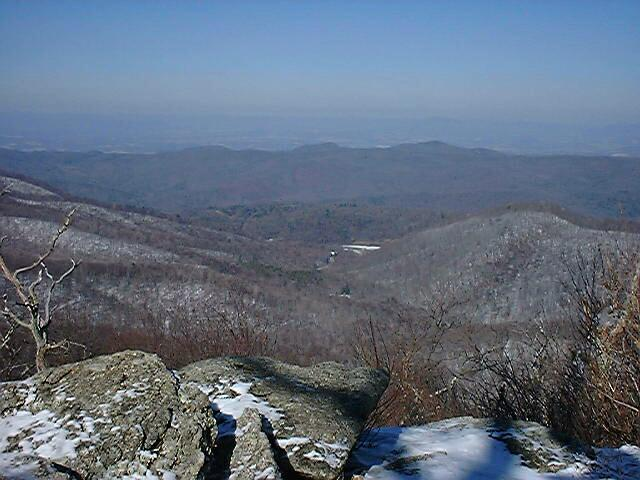 View from Cold Mountain, VA