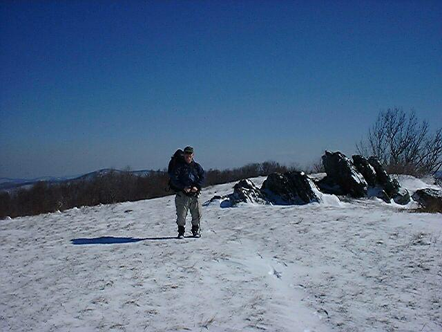 Charlie J on top of Cold MTN
