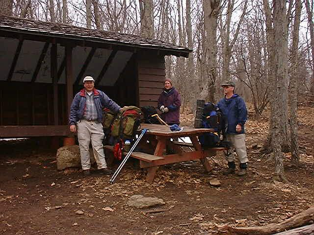 Mike, Chris & Charlie @ Seeley-Woodworth Shelter