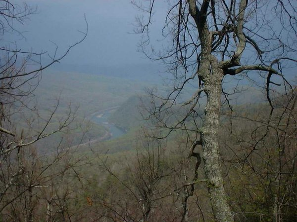 View from above James River
