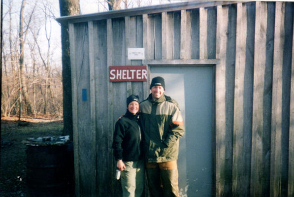 Unknown couple at PA501 Shelter