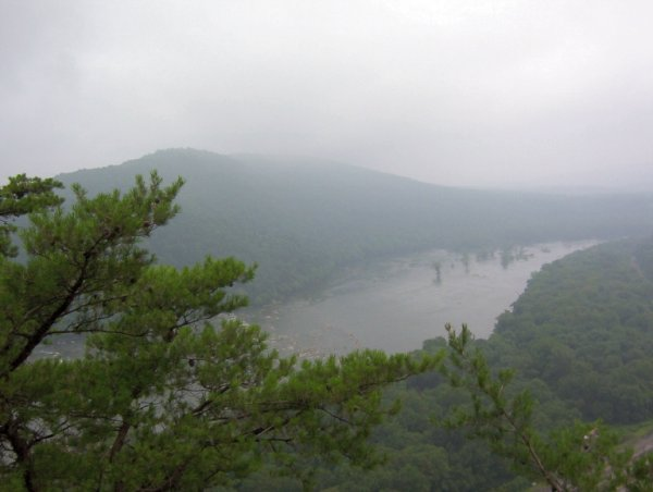 Foggy view from Weverton Cliffs, MD