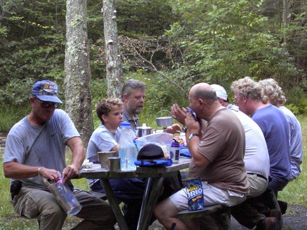 Dinner at Antietam Shelter, MD