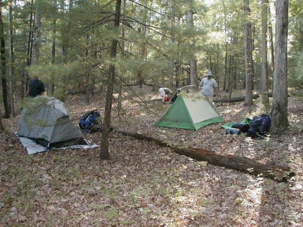 Campsite at Caledonia SP