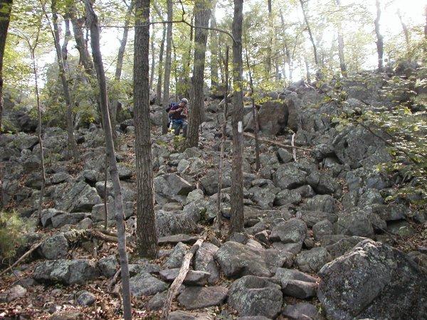 More rocks at mile 3.5