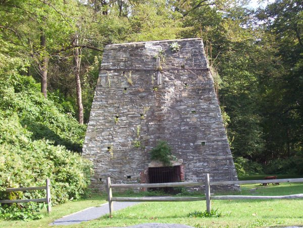 Old iron furnace in Boiling Springs, PA
