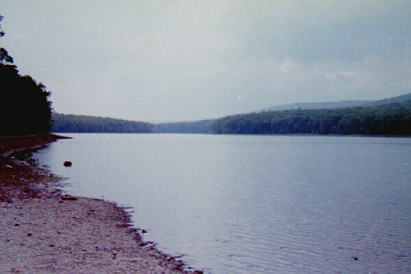 Sleepy Creek Lake near the Tuscarora Trail at Upper Campground, WV
