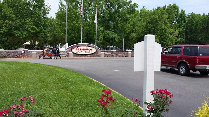 Entrance @ Bethpage CG, VA