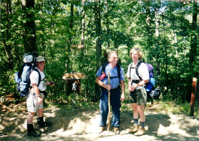 Charlie, Bill & Chris @ beginning of hike