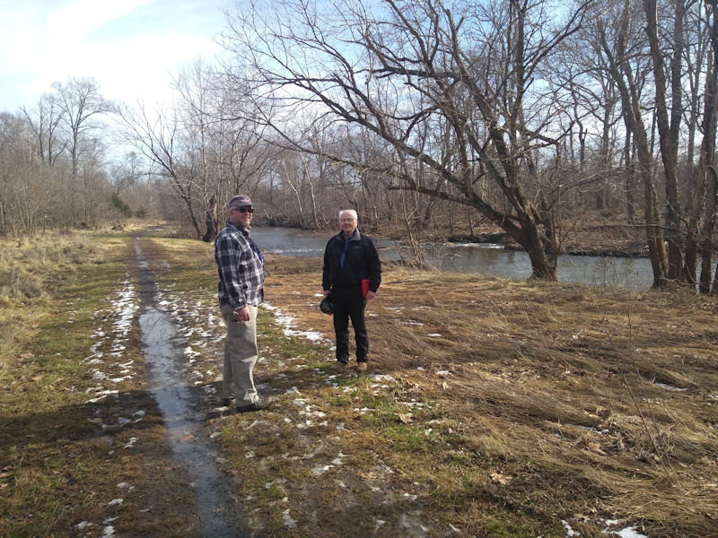 Randall & Dave along BRT, VA