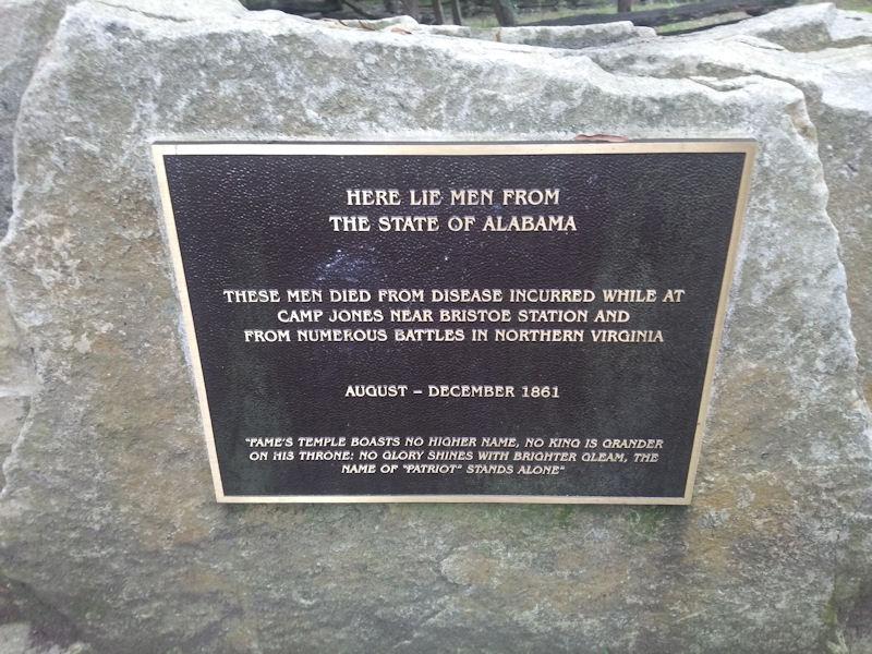 Plaque, AL Regiment Cemetery