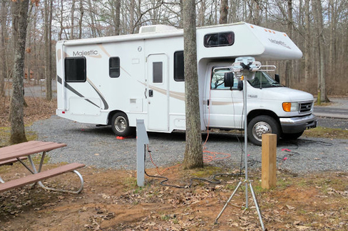 Camping at Bull Run Regional Park, VA 01-2016