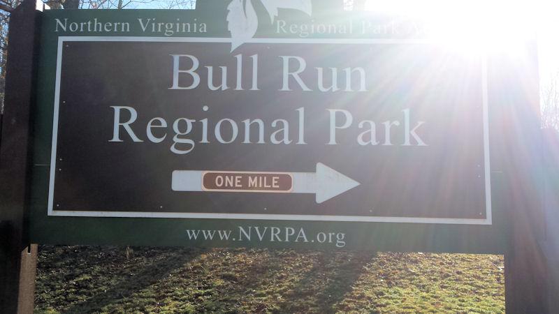 Sign @ Bull Run Regional CG, VA