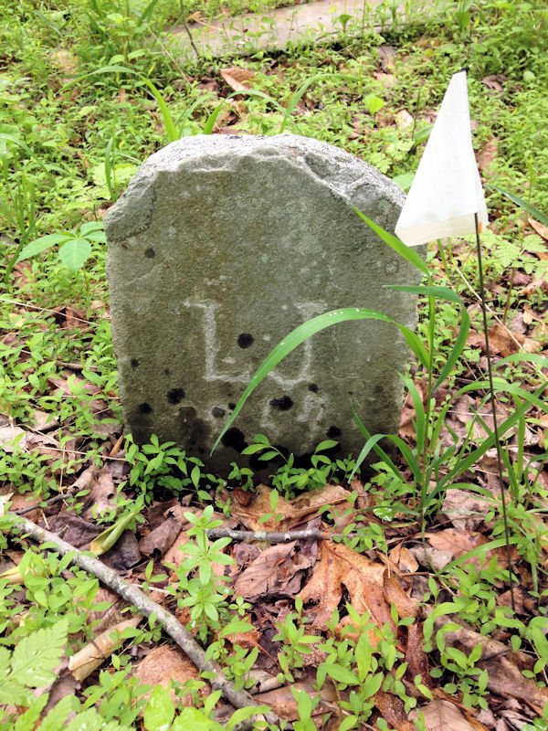 Gravestone Along Green Trail