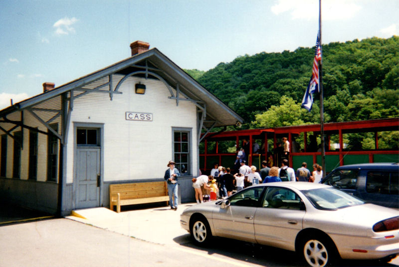 Train depot at Cass, WV