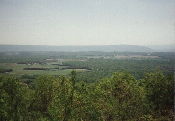 View from US15 of the Catoctin Mountains, MD