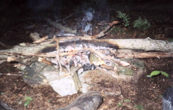 Our campfire that night