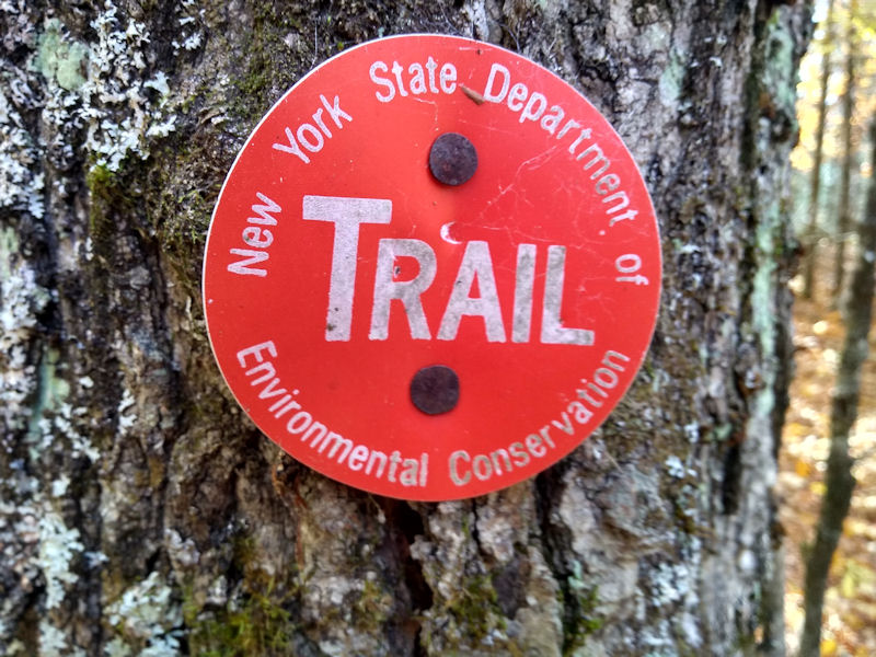 New York State Trail Marker