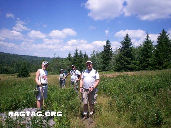 Group picture along Blackbird Knob Trail