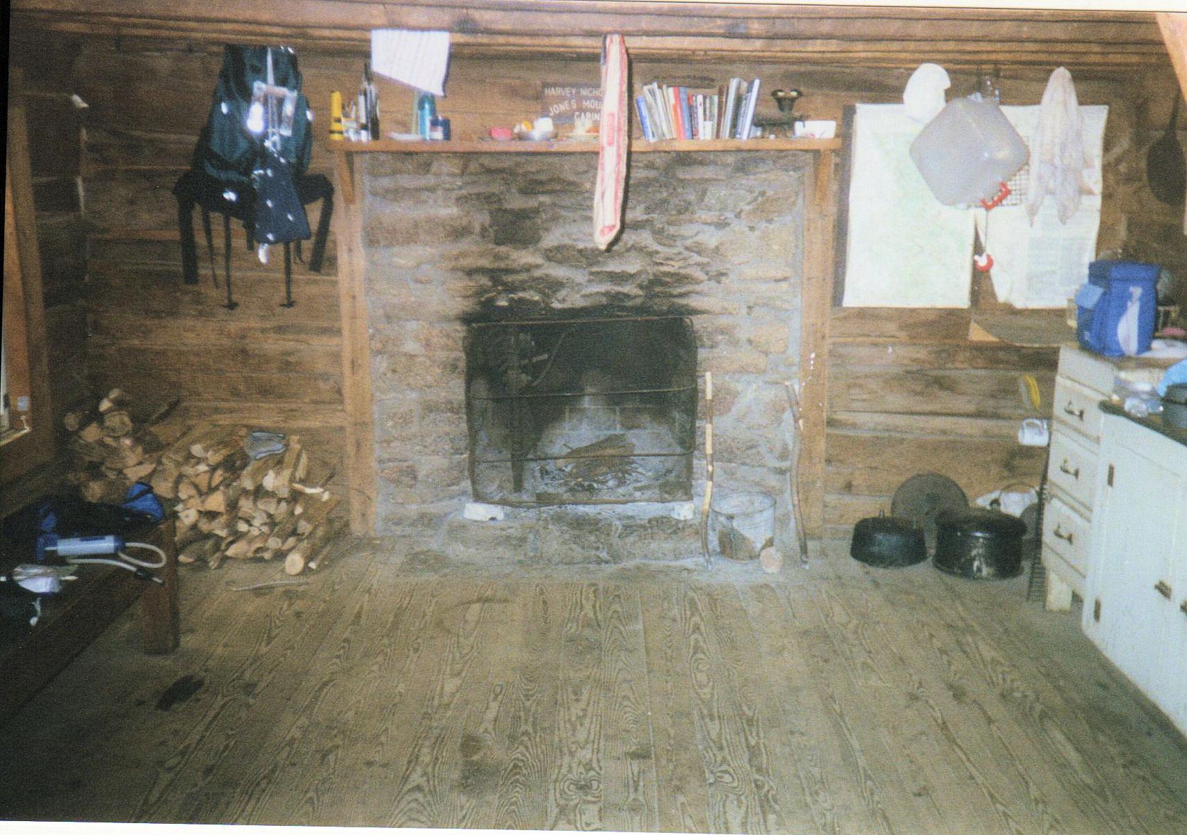 Fireplace of Jones Mountain Cabin