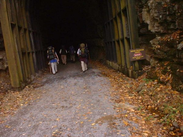 Entering Droop Mountain Tunnel