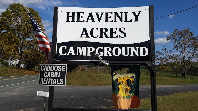 Sign @ Heavenly Acres CG, VA