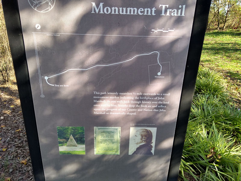 Map of Monument Trail, VA