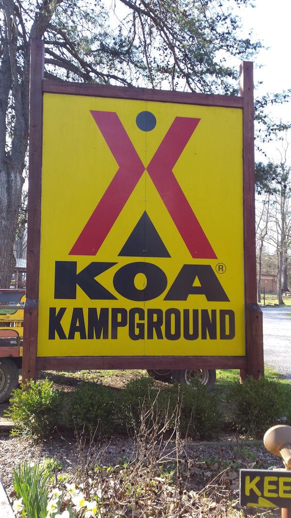 A 3rd sign @ KOA Harrisonburg, VA