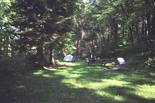 Our campsite at Kooser State Park, PA