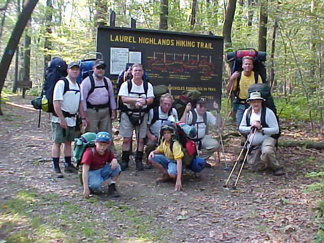 The whole group at the trailhead