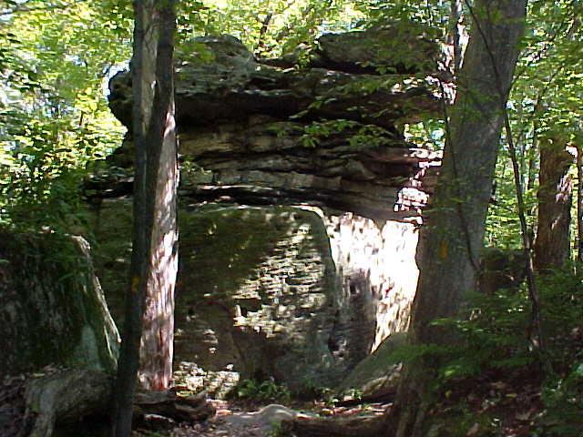 Huge rock formation