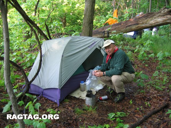 Mike C at campsite