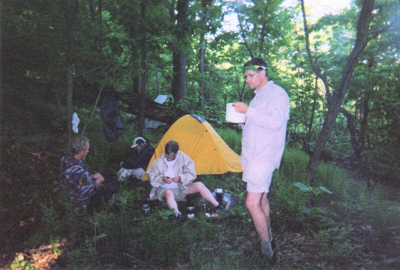 Campsite around mile 10