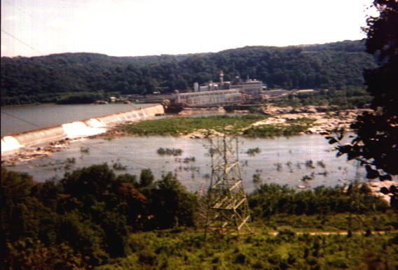 View of power plant on the Susquehanna River.