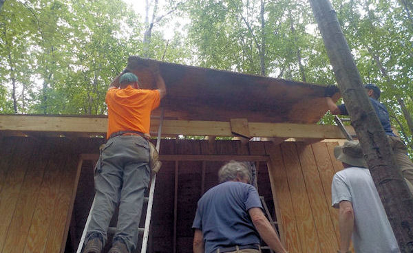 Building Apollo Park Shelter in PA