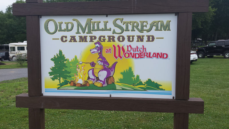 Sign @ Old Mill Stream Campground, PA