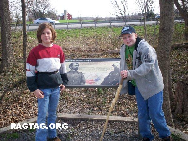 Madelyn and Daryl at marker